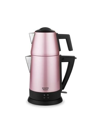 Schafer Teepoint Elektrikli Çay Makinesi - Gul01 Pembe